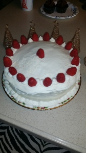 Orange Raspberry Vanilla Cake